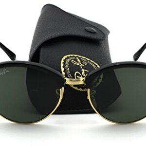 ddab510abbb Ray-Ban RB-4246 901 Club round Unisex Sunglasses (Black Frame Green Lens)