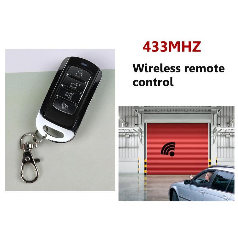 433mhz 12v 4 Ch Buttons Garage Door Opener Remote Copy Transmitter